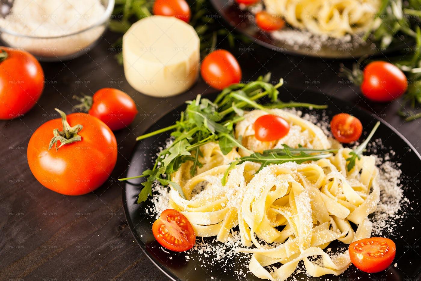Tagliatelle Pasta: Stock Photos