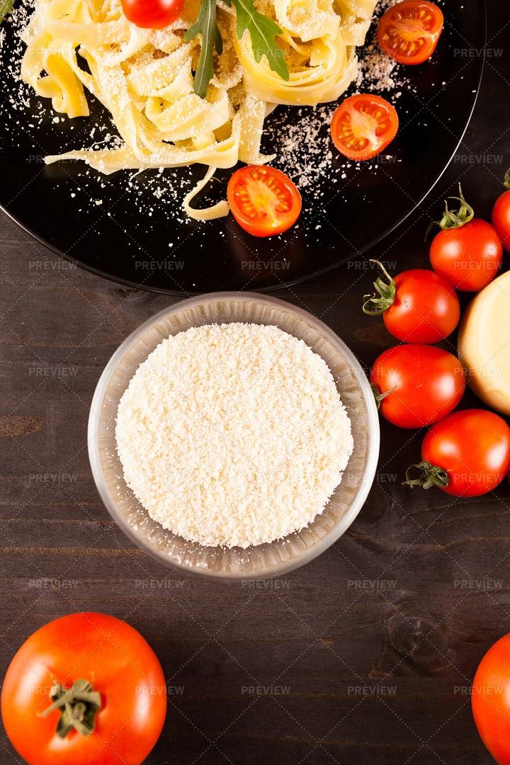 Bowl Of Parmesan Cheese: Stock Photos