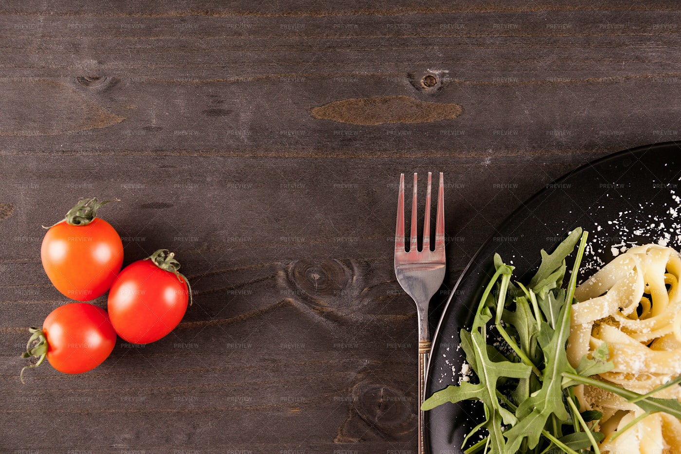 Tomatoes Near Pasta Dish: Stock Photos