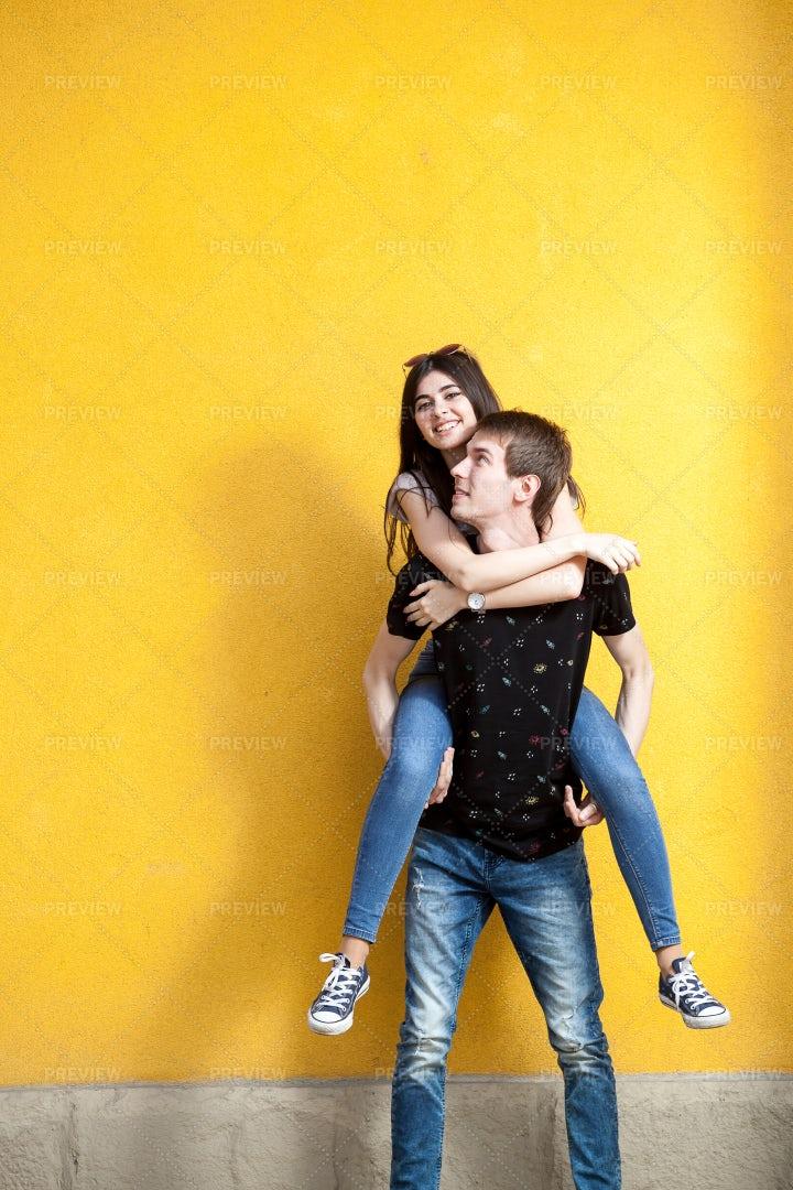 Cool Young Couple Posing: Stock Photos