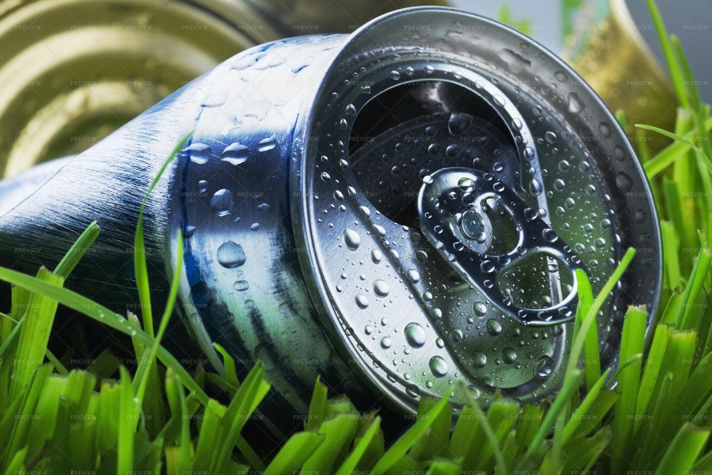 Crumpled Aluminum Can: Stock Photos