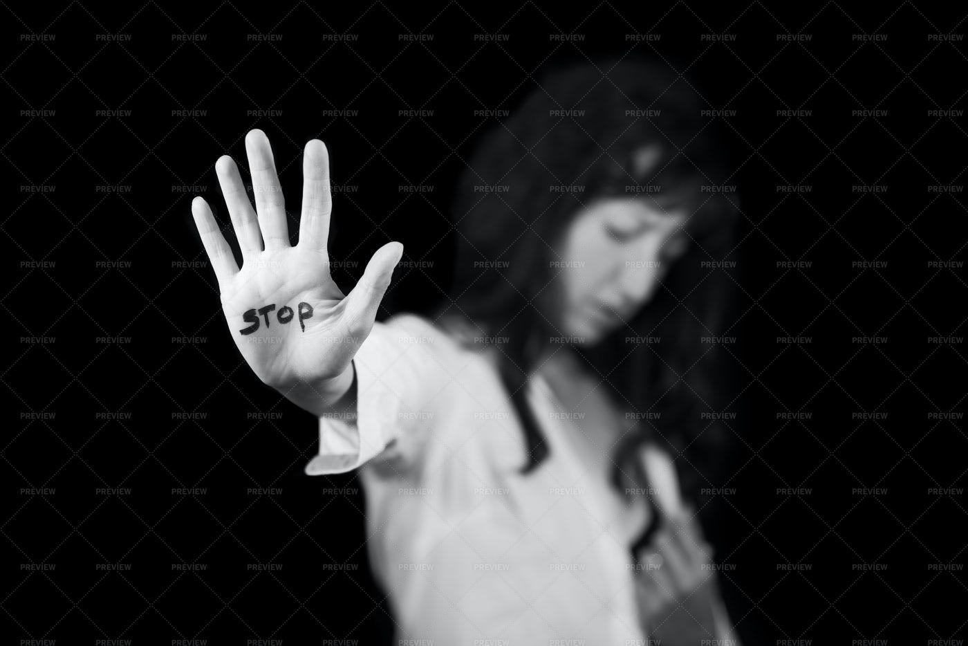 Stop Hand Sign: Stock Photos