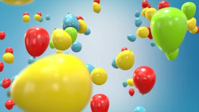 Flying Ballons: Stock Motion Graphics