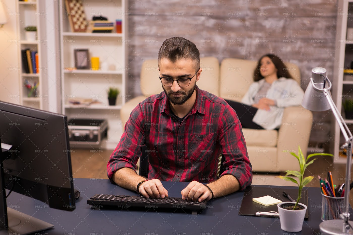 Typing On Computer: Stock Photos