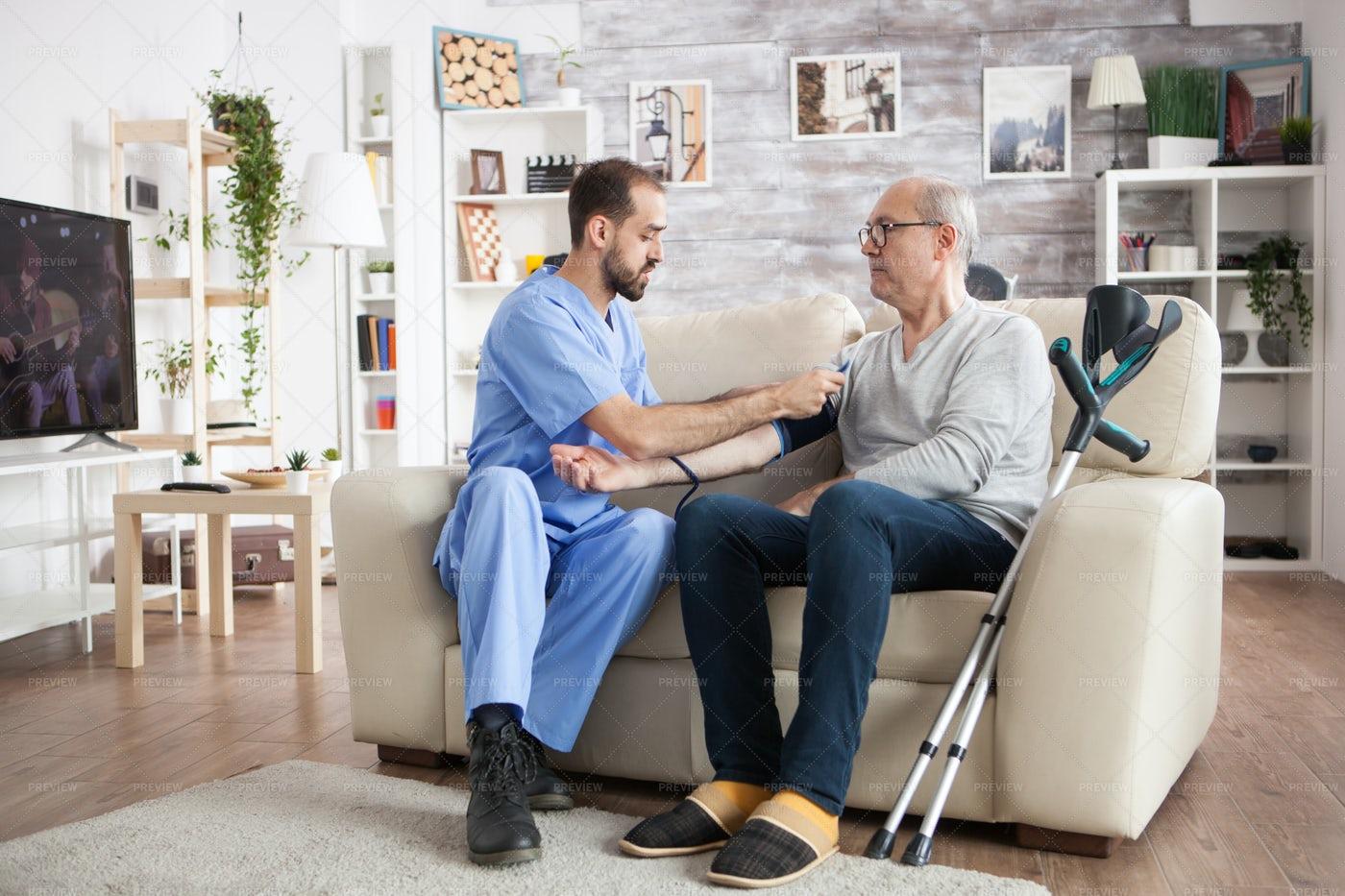 Young Doctor In Nursing Home: Stock Photos
