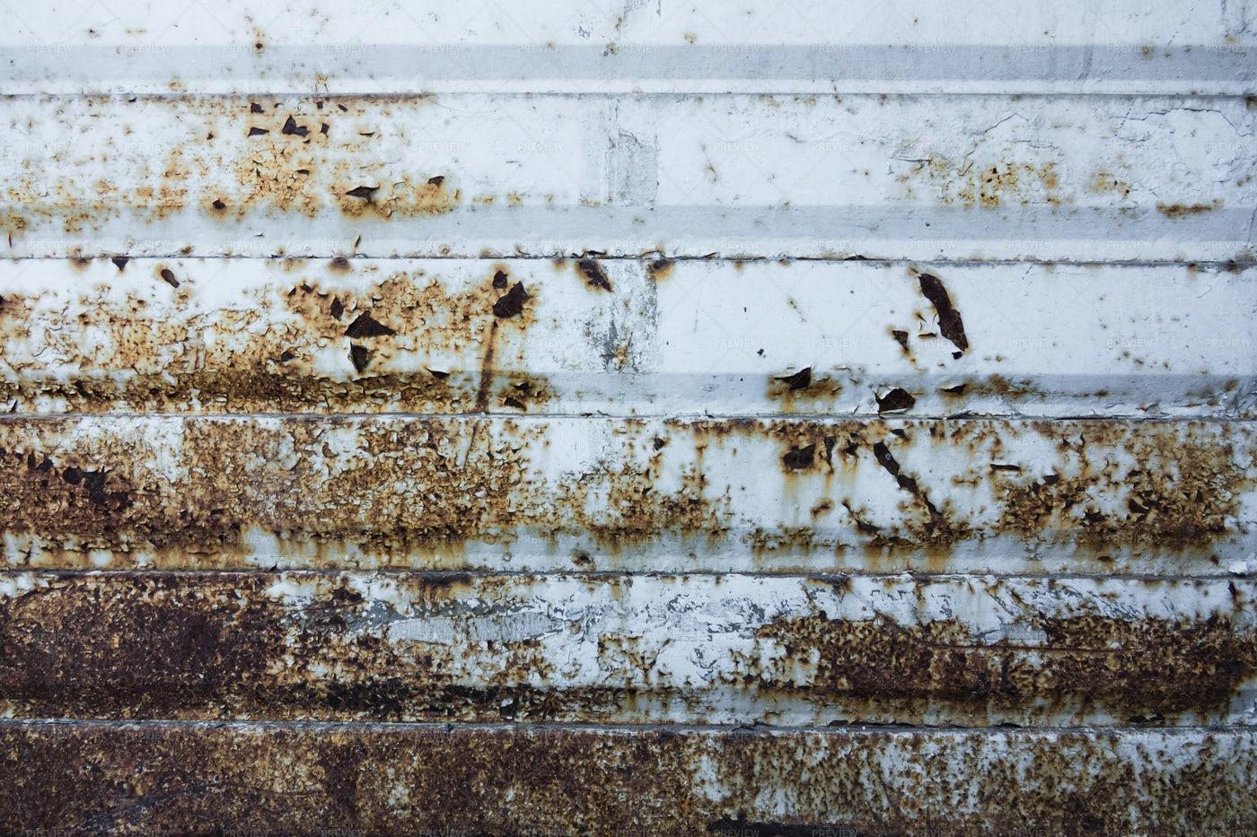 Texture Of Rusty Iron Wall: Stock Photos
