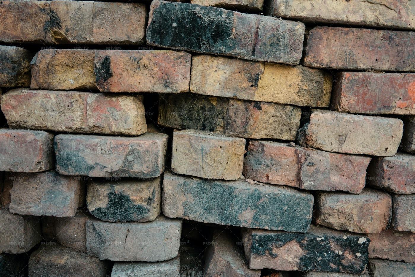 Texture Of Old Bricks: Stock Photos