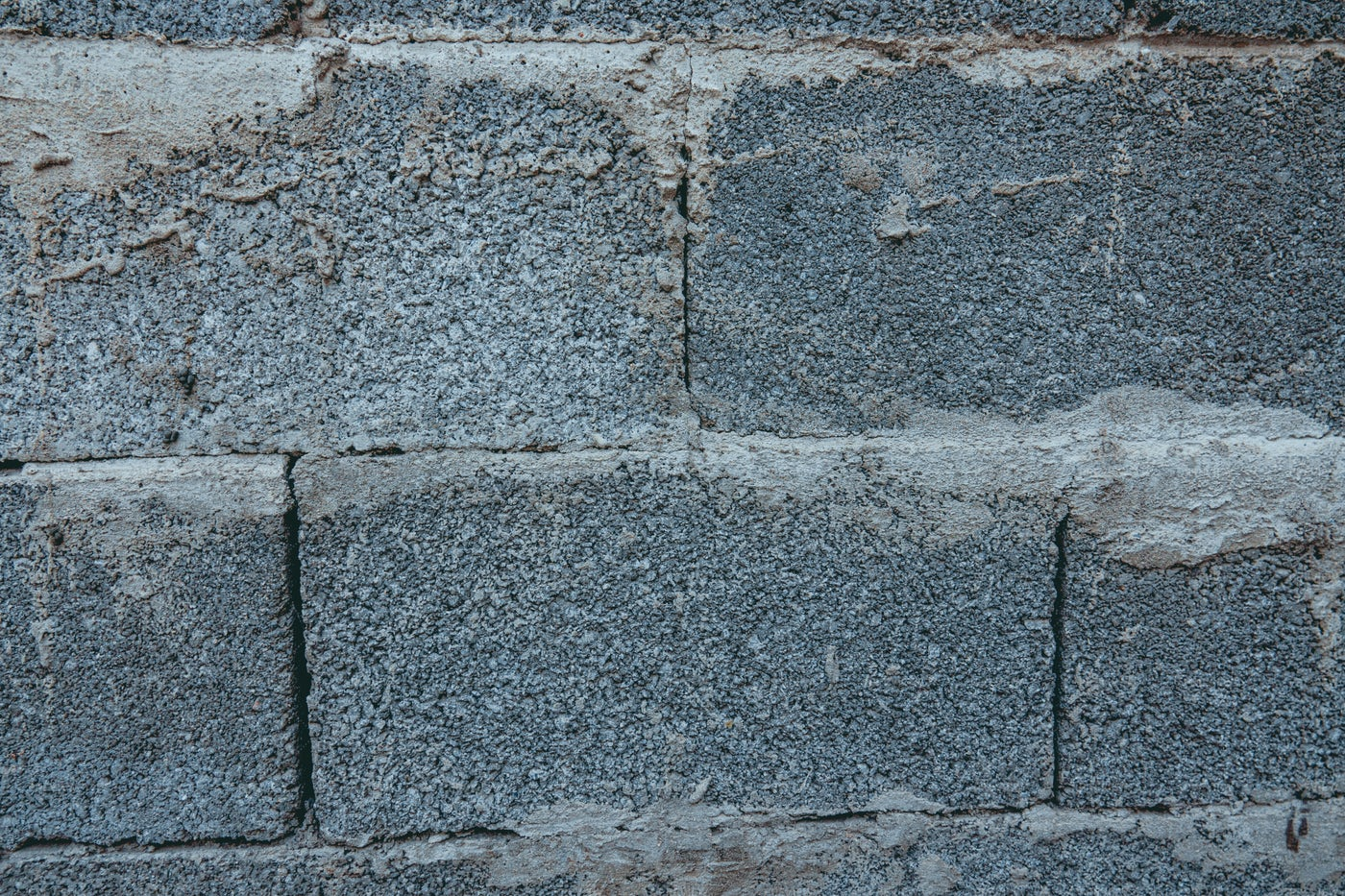 Bricks Stained With Cement: Stock Photos