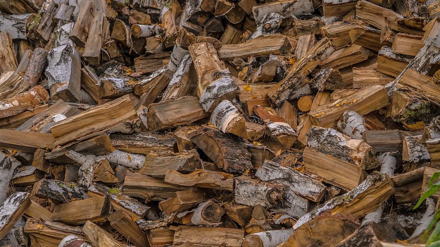 Chopped Firewood Texture: Stock Photos