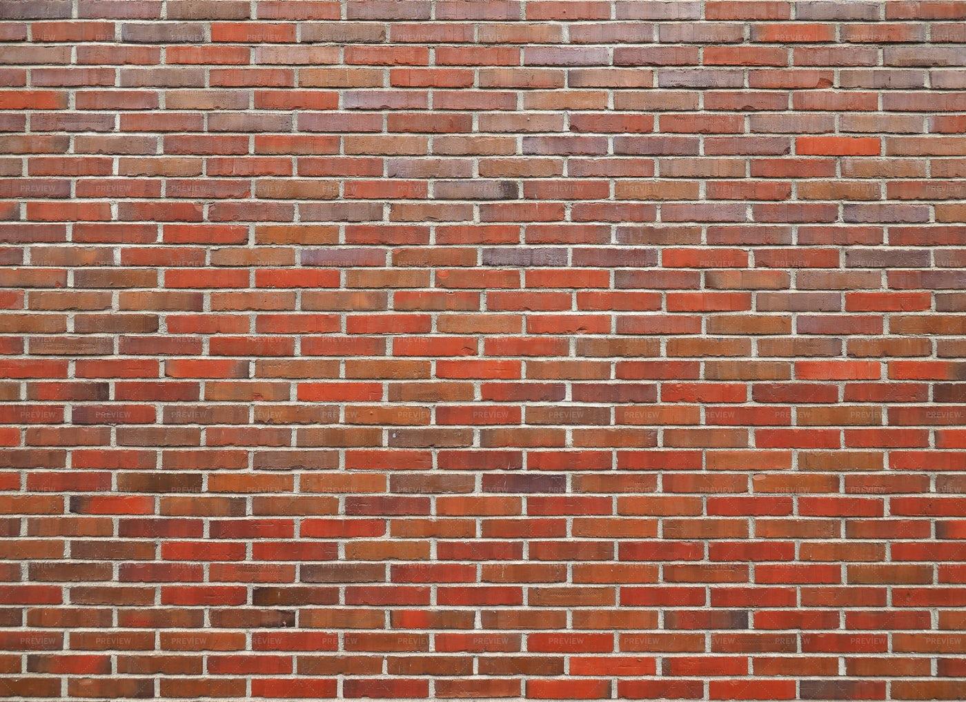 Large Red Bricks Wall: Stock Photos