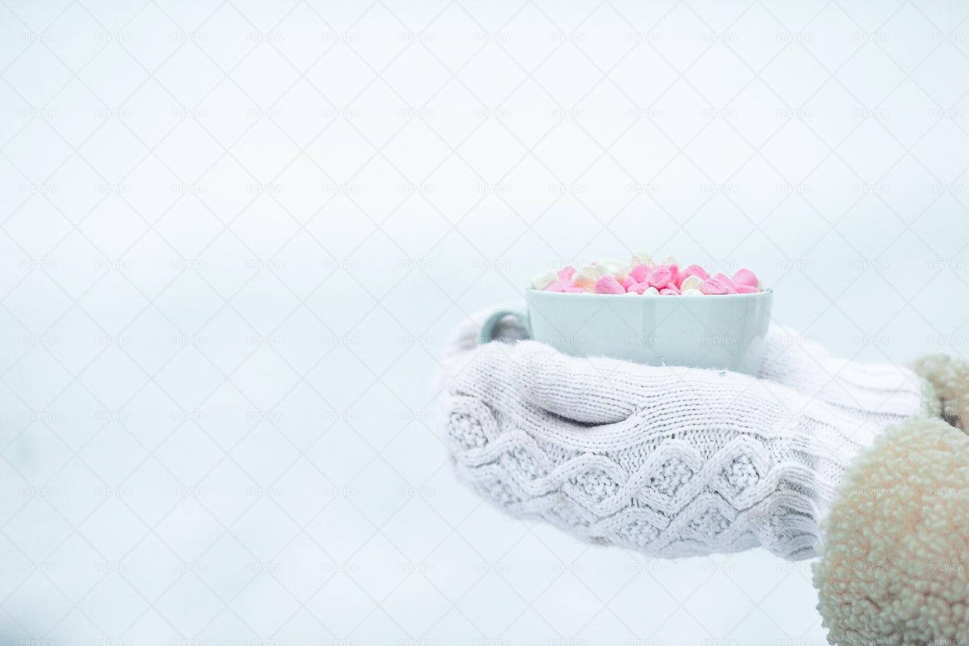 Pink Marshmallows: Stock Photos