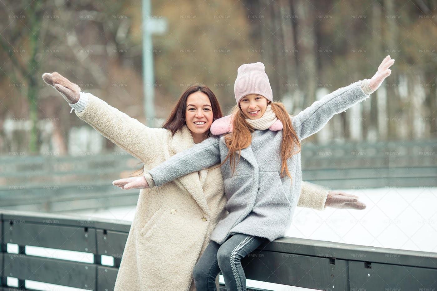 Girl And Mother Having Fun: Stock Photos