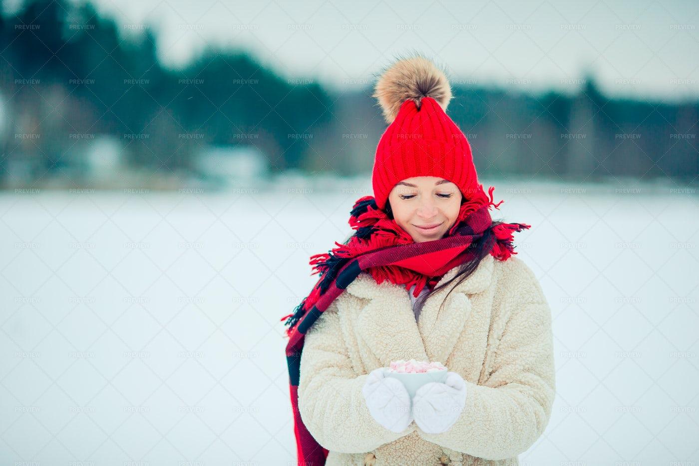 Hot Cocoa On A Cold Day: Stock Photos