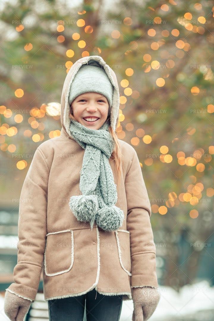 Girl Bundled Up For Winter: Stock Photos