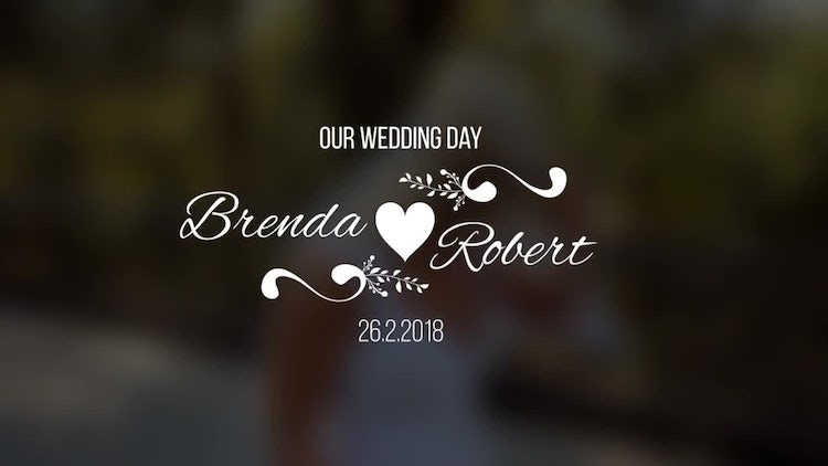 Wedding Titles V5: After Effects Templates