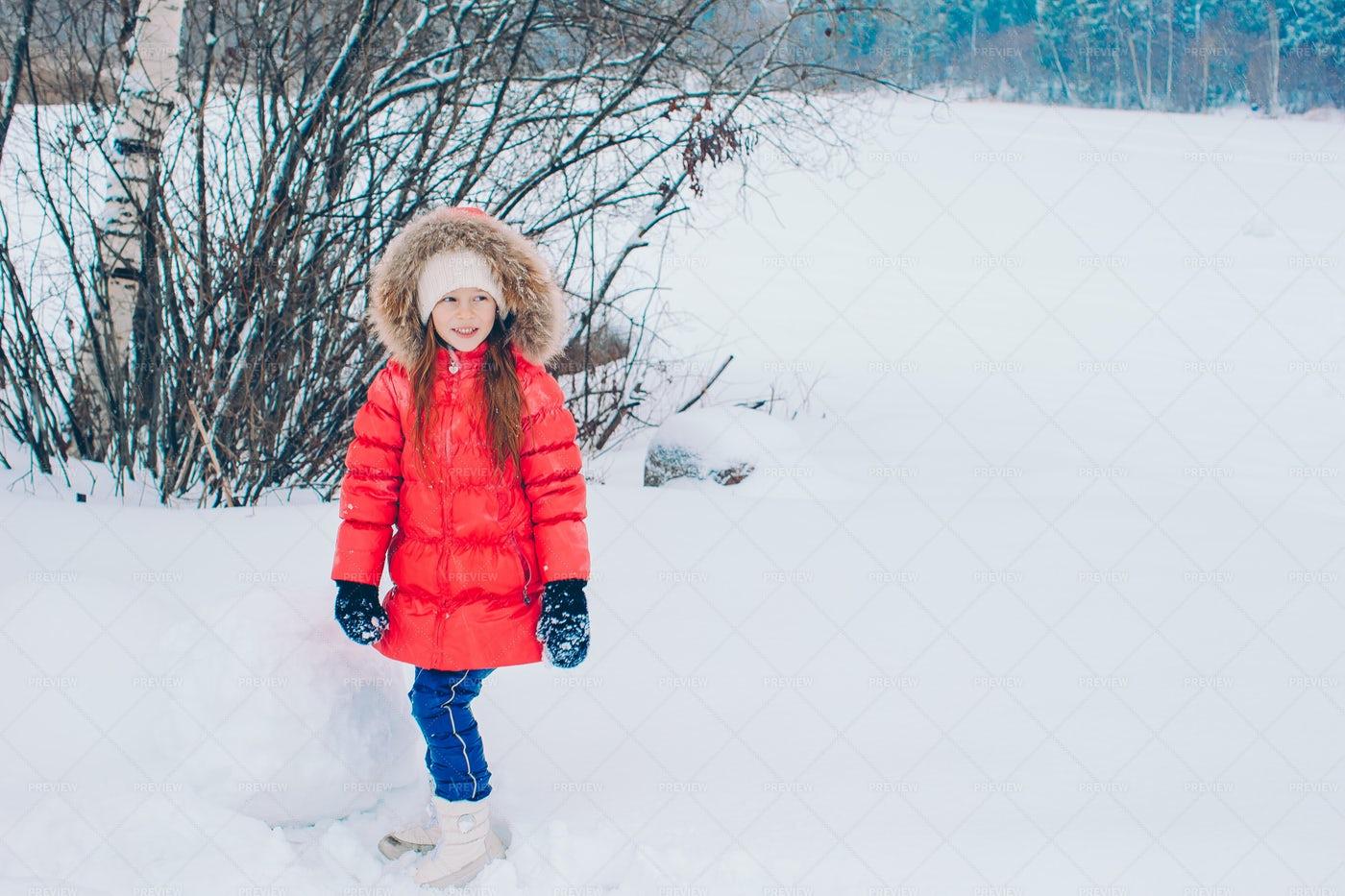 Building A Snowman: Stock Photos