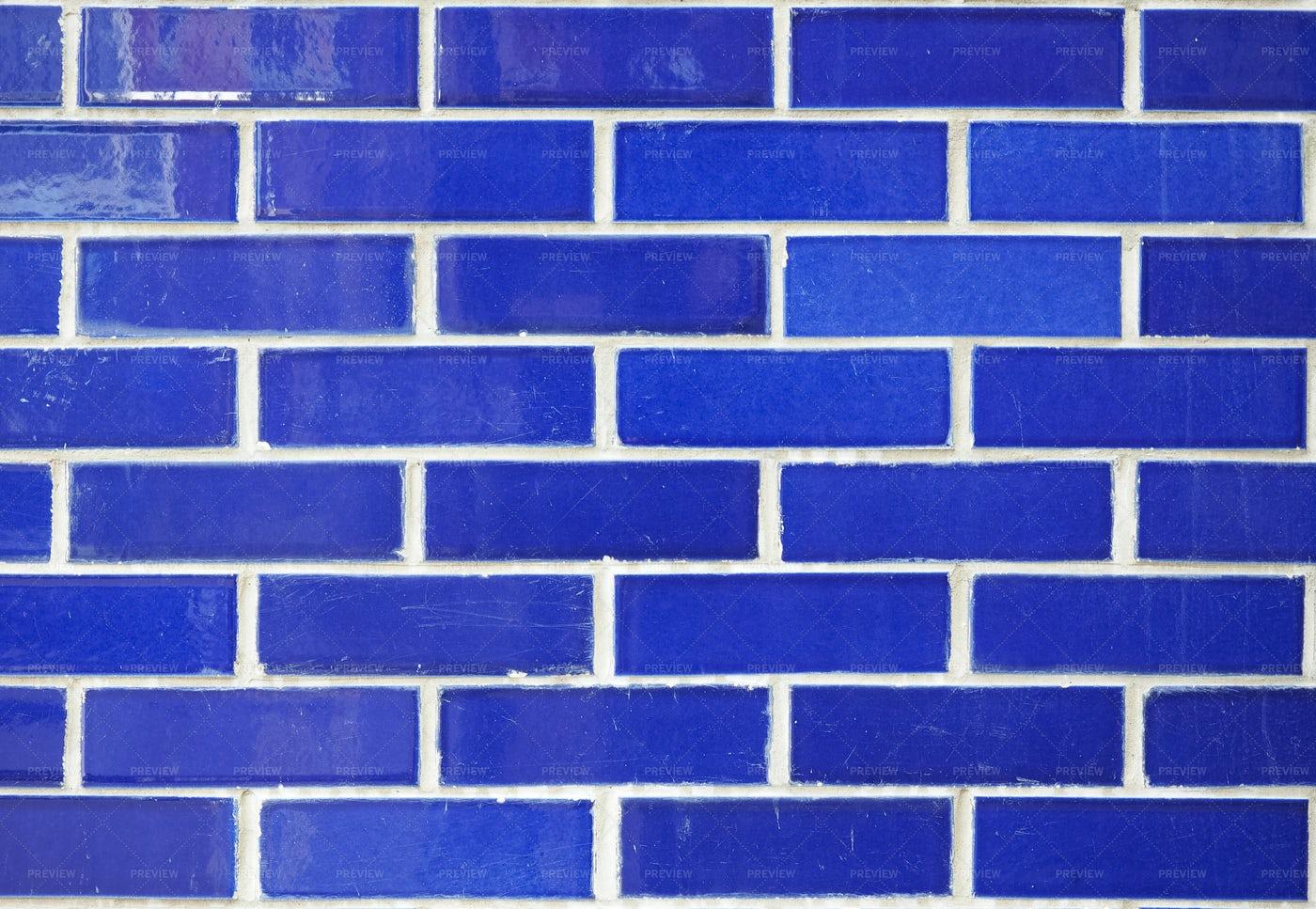 Blue Brick Wall: Stock Photos