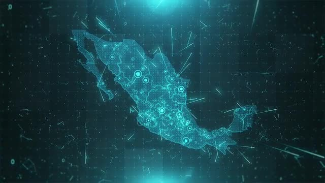 Mexico Map Population: Stock Motion Graphics