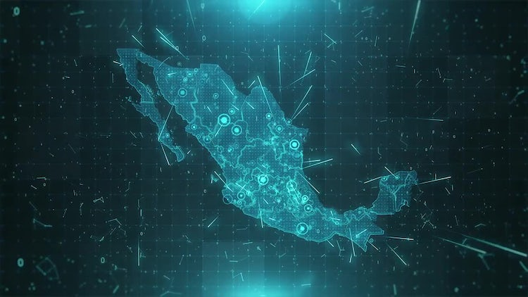 Mexico Map Population: Motion Graphics