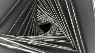 Metal Triangle Spiral: Motion Graphics