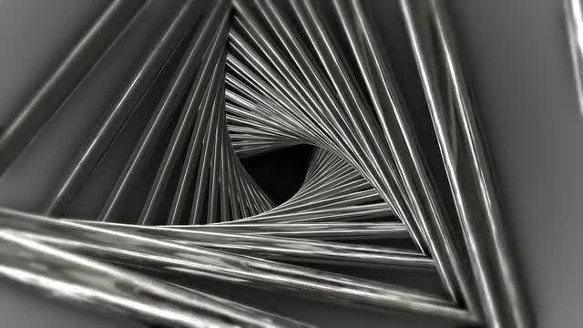 Metal Triangle Spiral: Stock Motion Graphics