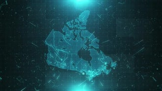 Canada Map Population: Motion Graphics