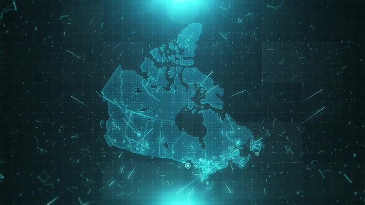 Canada Map Population: Stock Motion Graphics