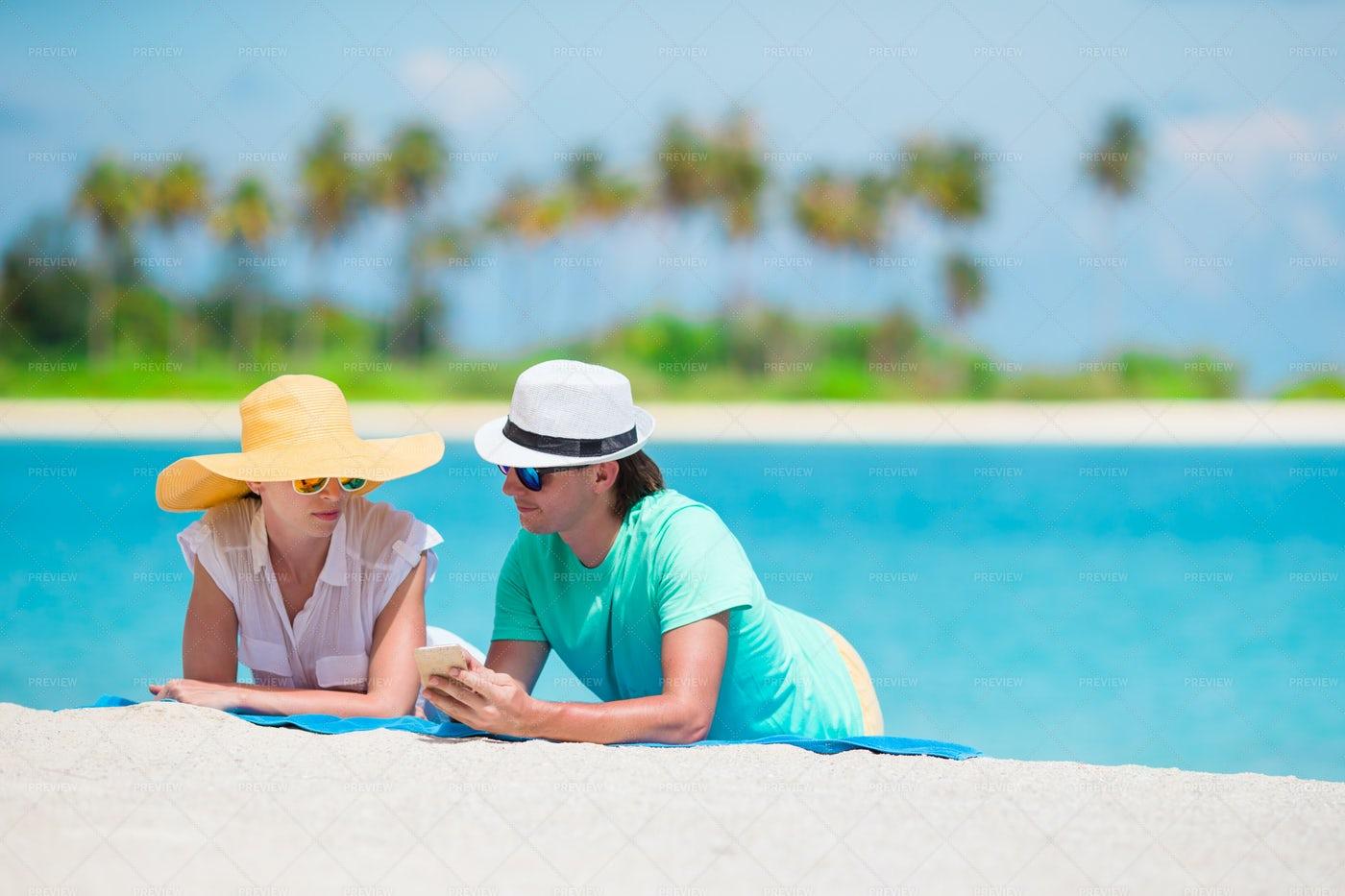 Couple On Island Beach: Stock Photos