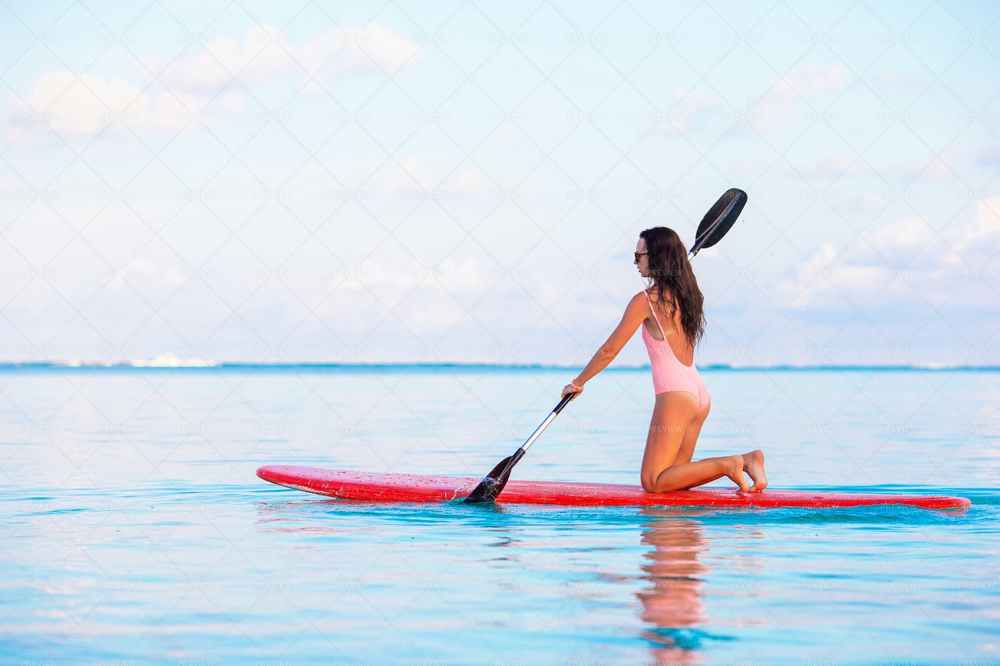 Active Woman On A Paddle: Stock Photos