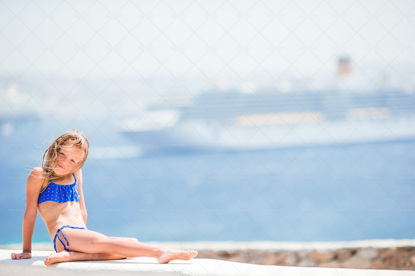 Beach Stop On Cruise Vacation: Stock Photos