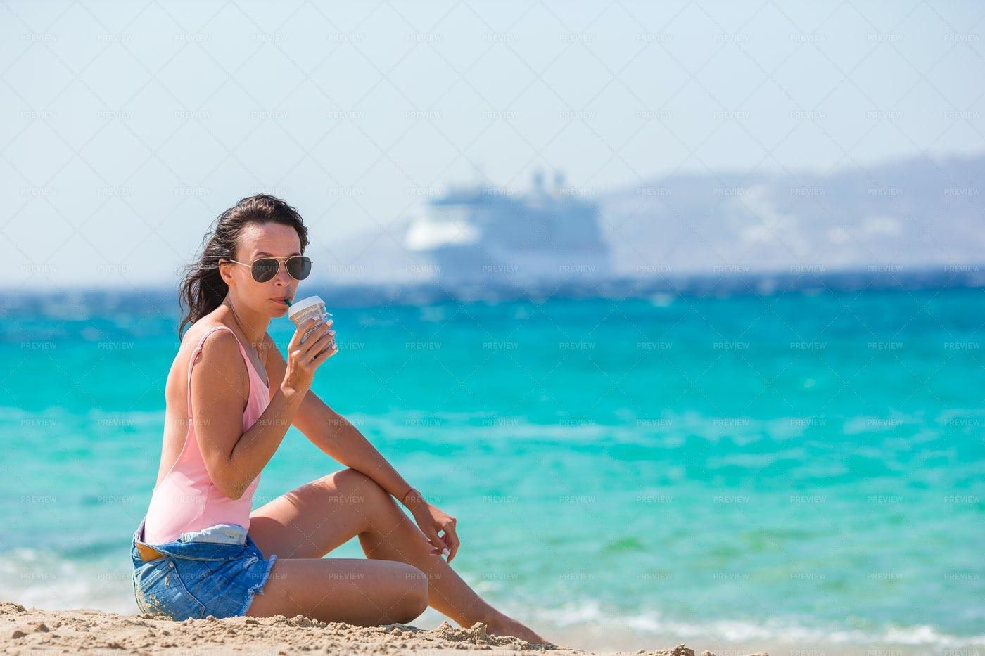 Coffee On The Beach: Stock Photos