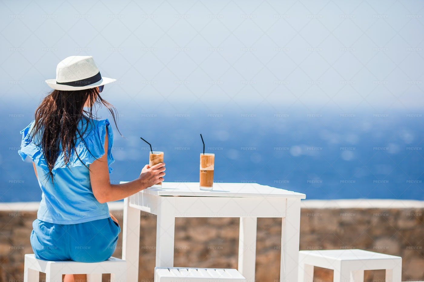 Drinking Cold Coffee: Stock Photos