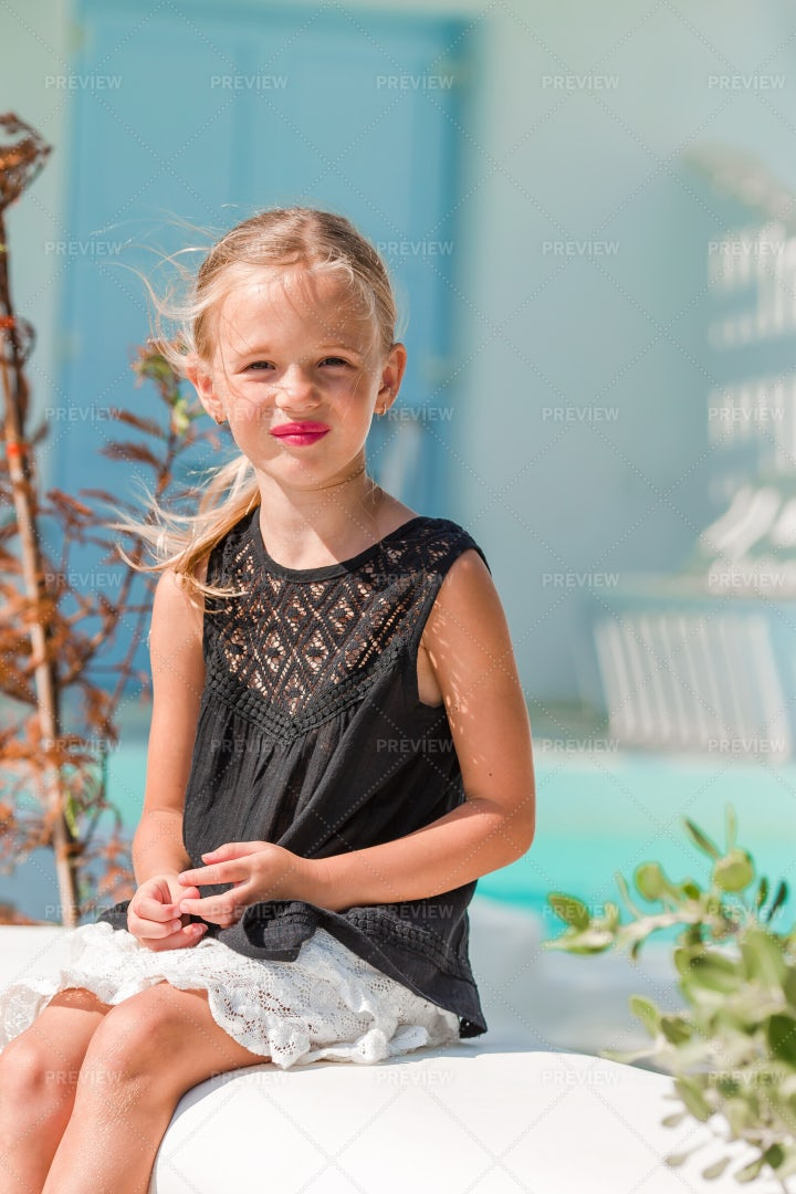 Outdoor Portrait Of A Little Girl: Stock Photos