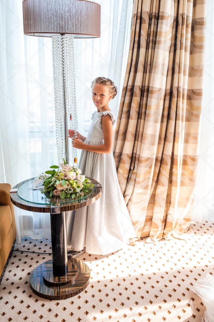 Little Girl In Elegant Dress: Stock Photos