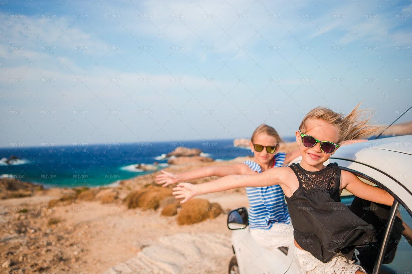 Summer Family Car Trip: Stock Photos