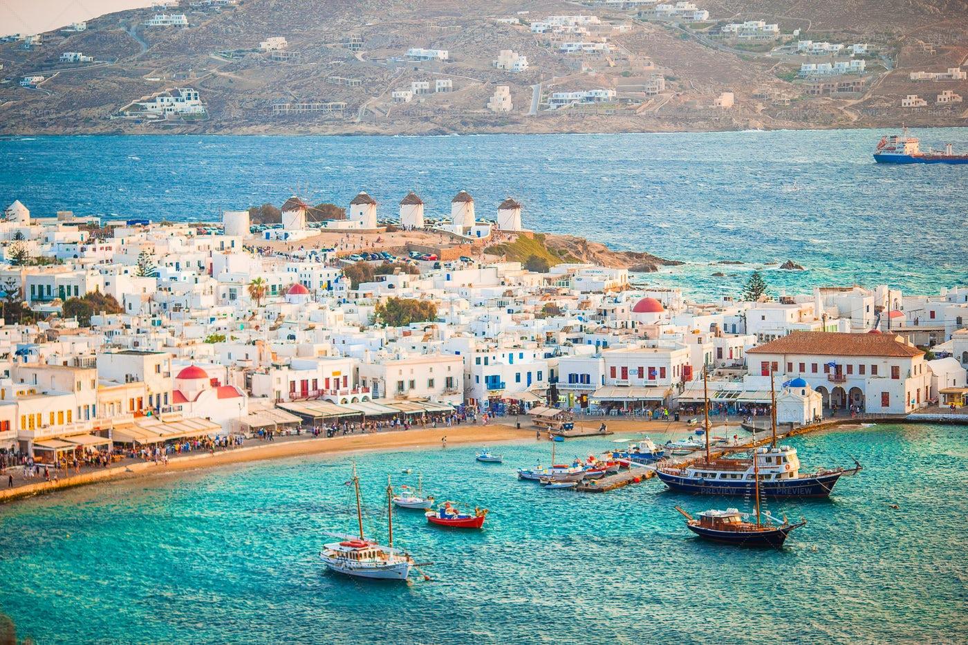 Traditional Greek Village: Stock Photos