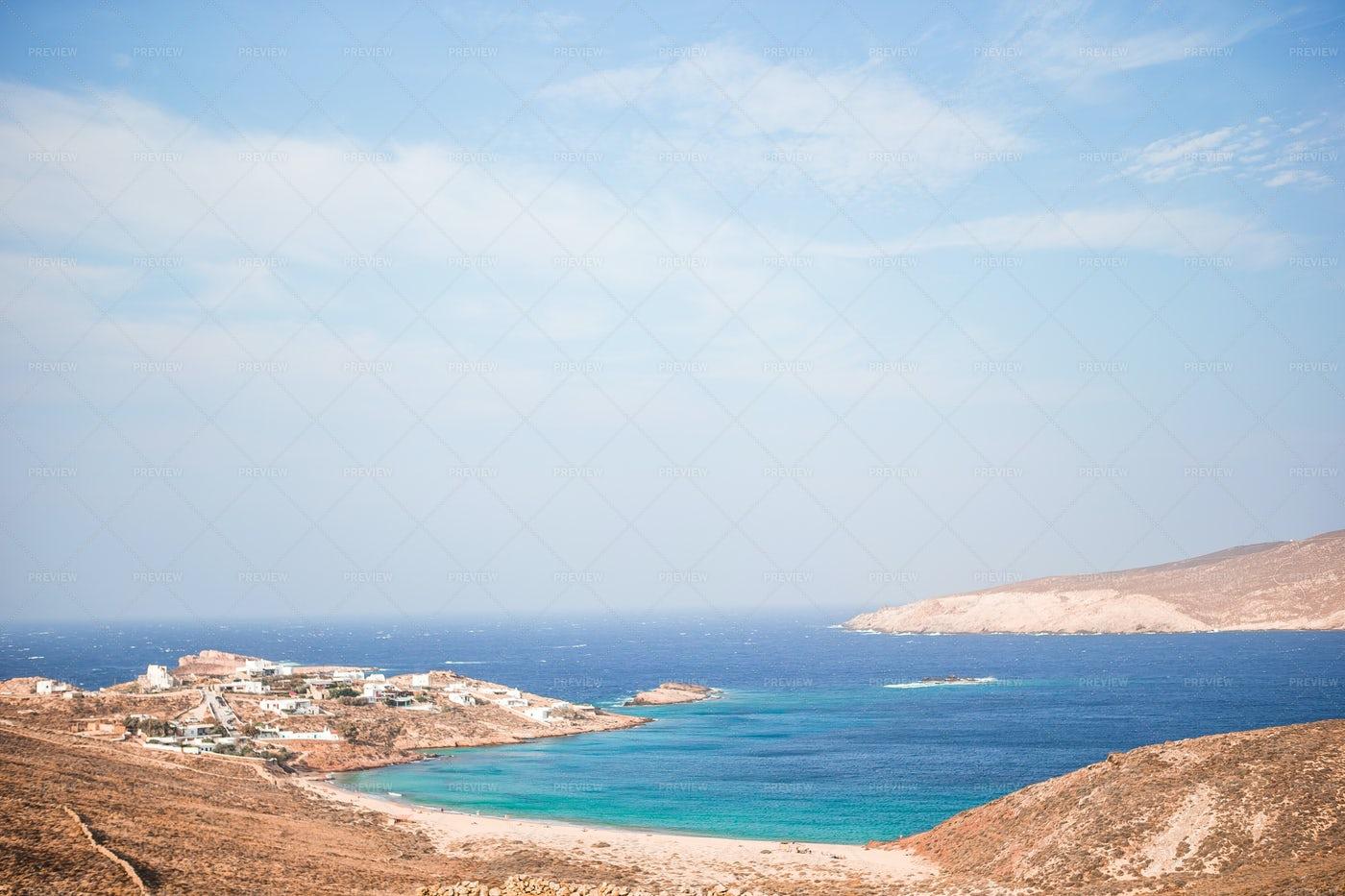 Mykonos Island Coast: Stock Photos