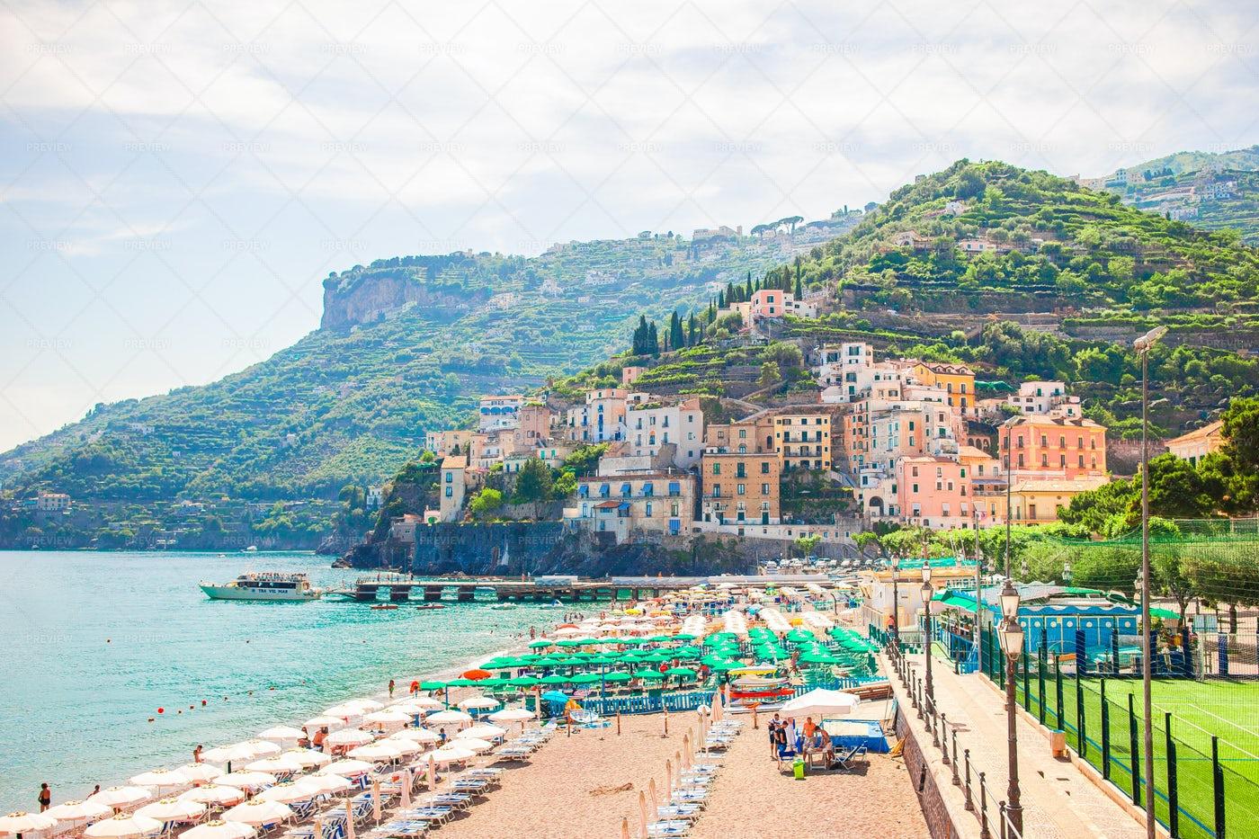 Beaches On The Amalfi Coast: Stock Photos
