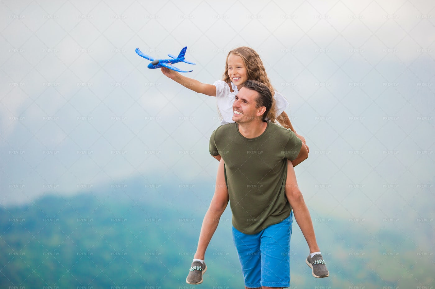 Playing  In The Mountains: Stock Photos