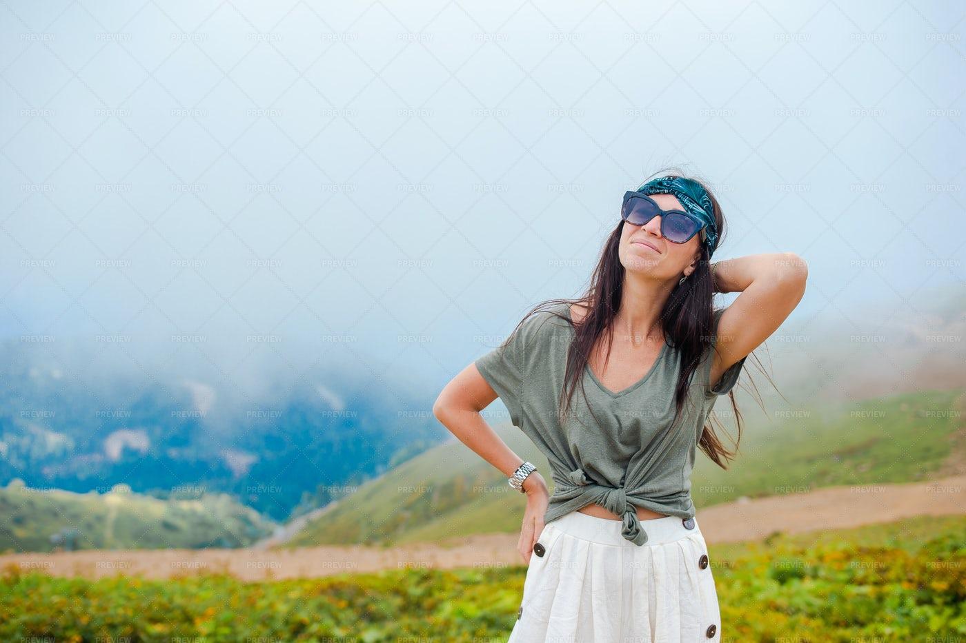 Enjoying The Mountains: Stock Photos