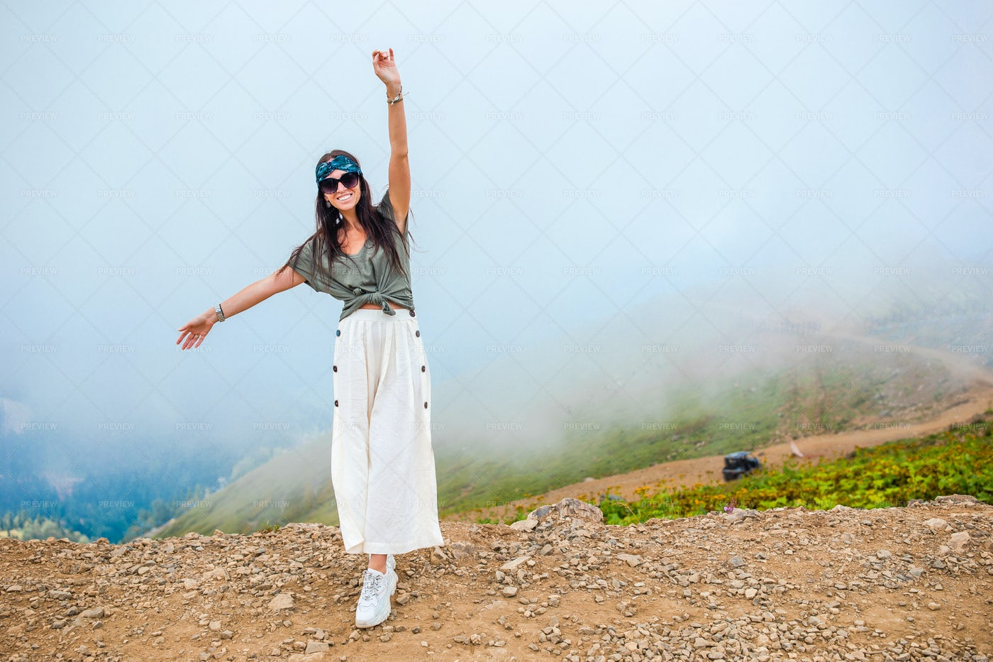 Happiness In The Mountains: Stock Photos