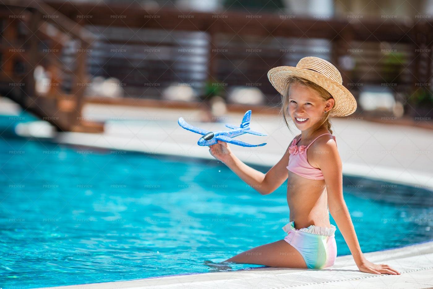 Kid With Toy Plane: Stock Photos