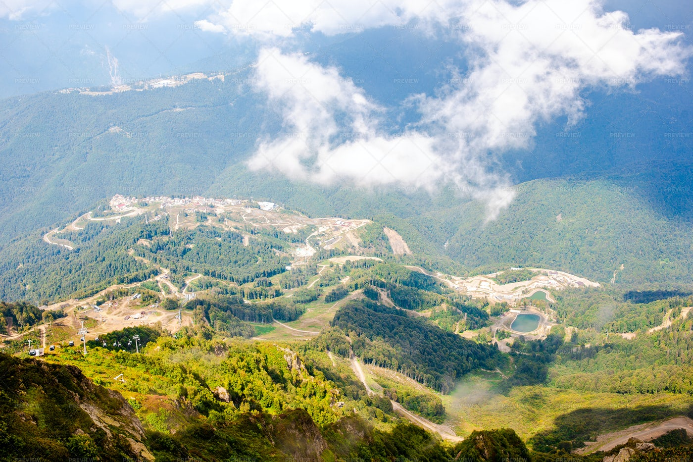 Amazing Landscape Of Rosa Khutor: Stock Photos