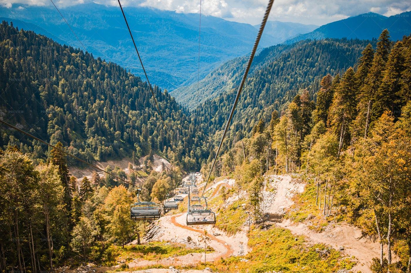 Ropeway On Top Of Rosa Peak: Stock Photos