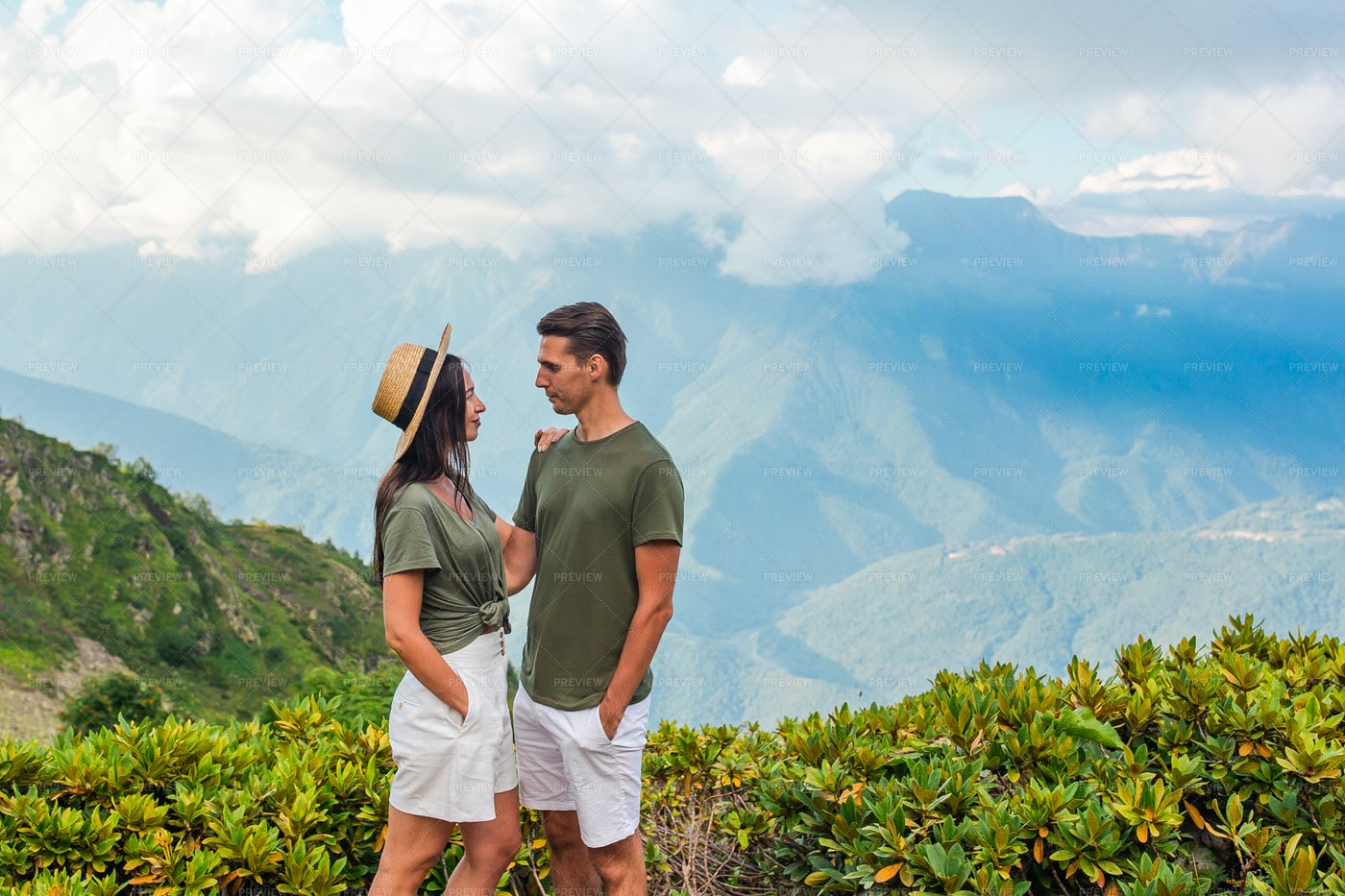 Together In The Mountains: Stock Photos