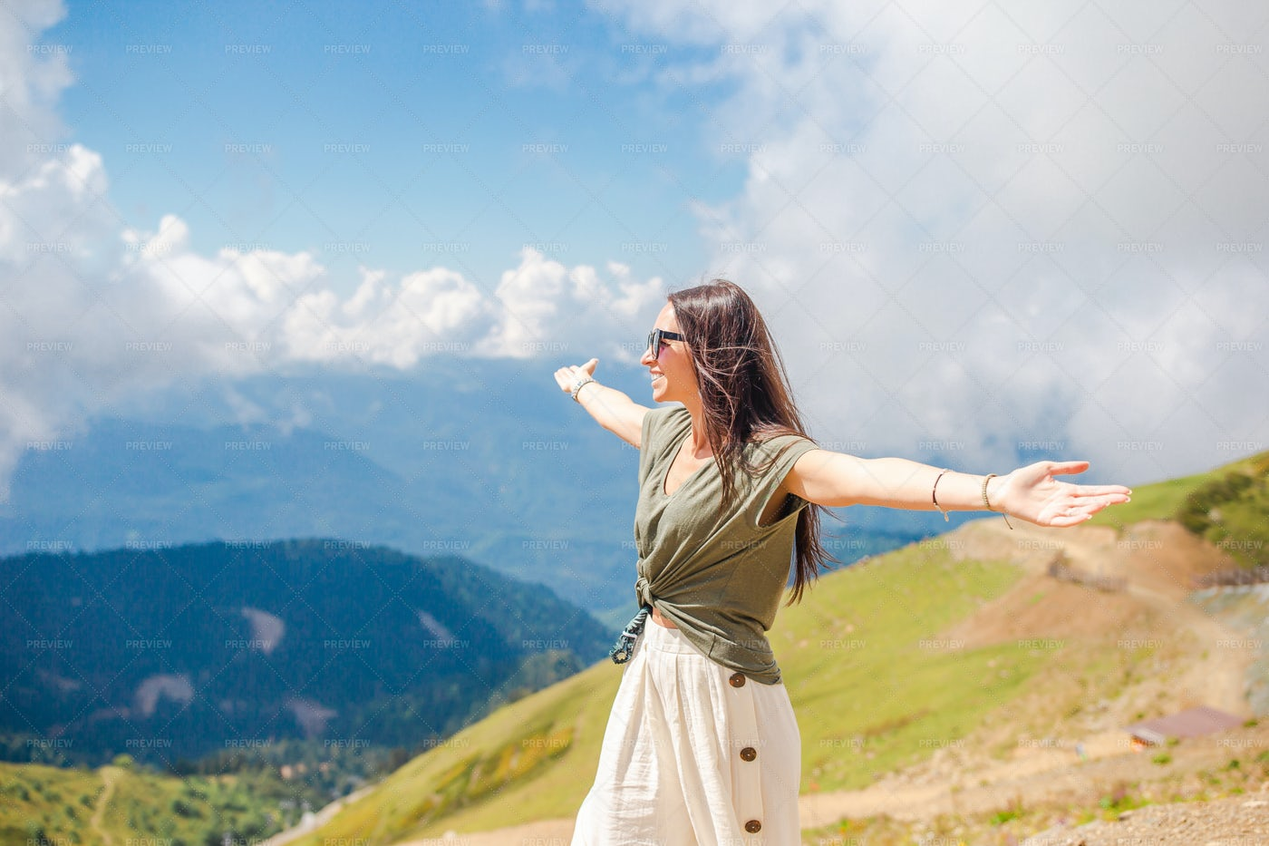 Amongst The Mountains: Stock Photos