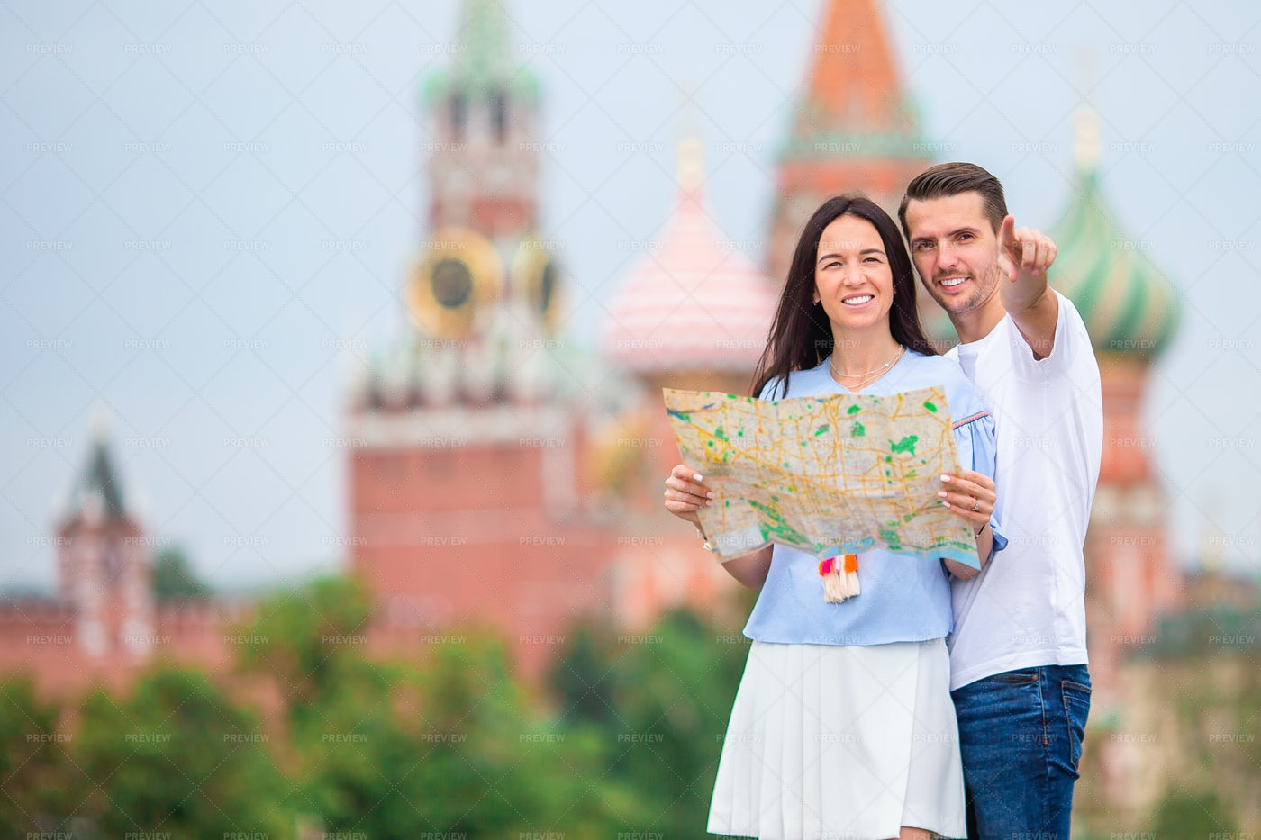 Tourists In Russia: Stock Photos