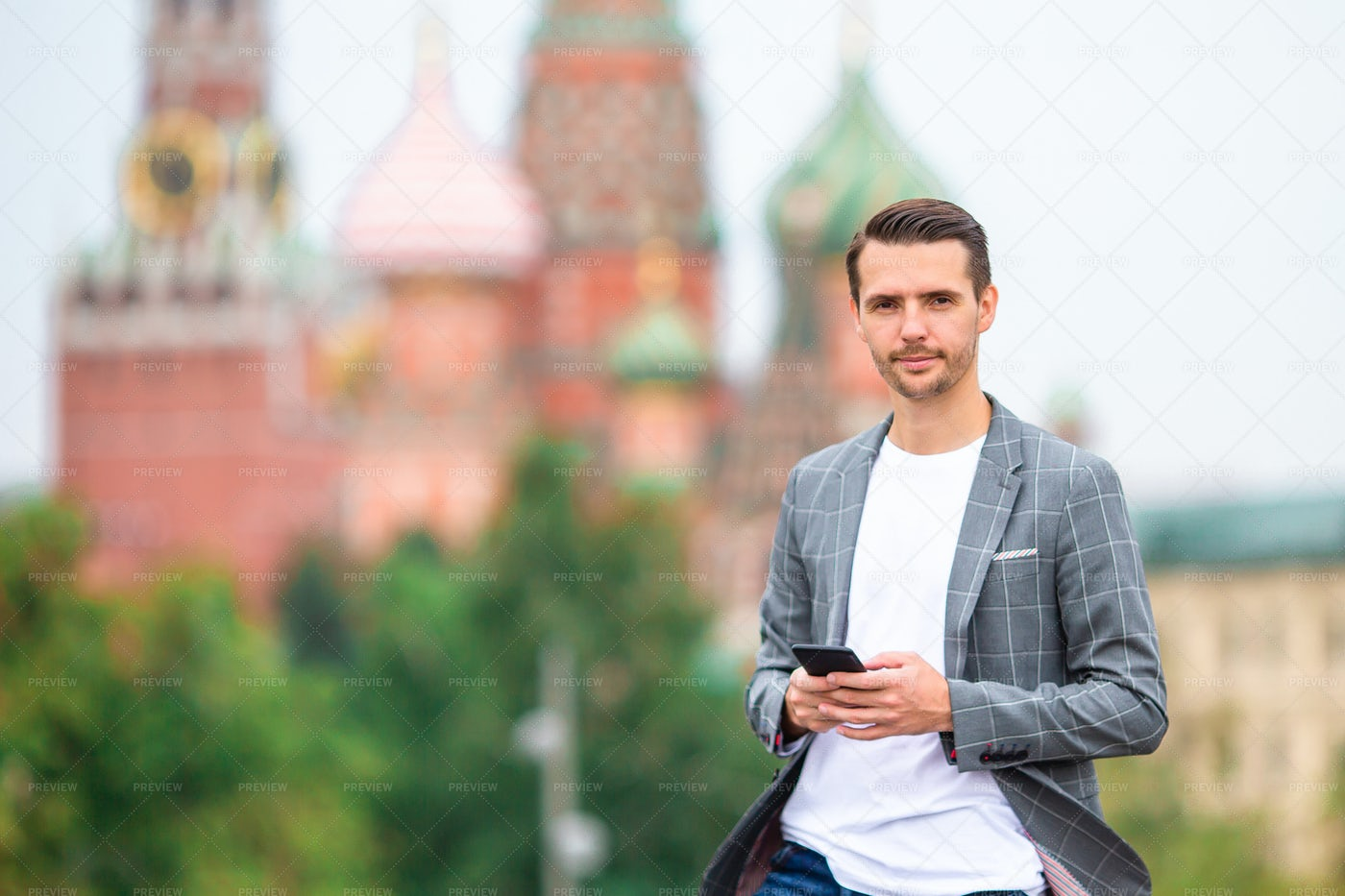 Urban Man In Moscow: Stock Photos