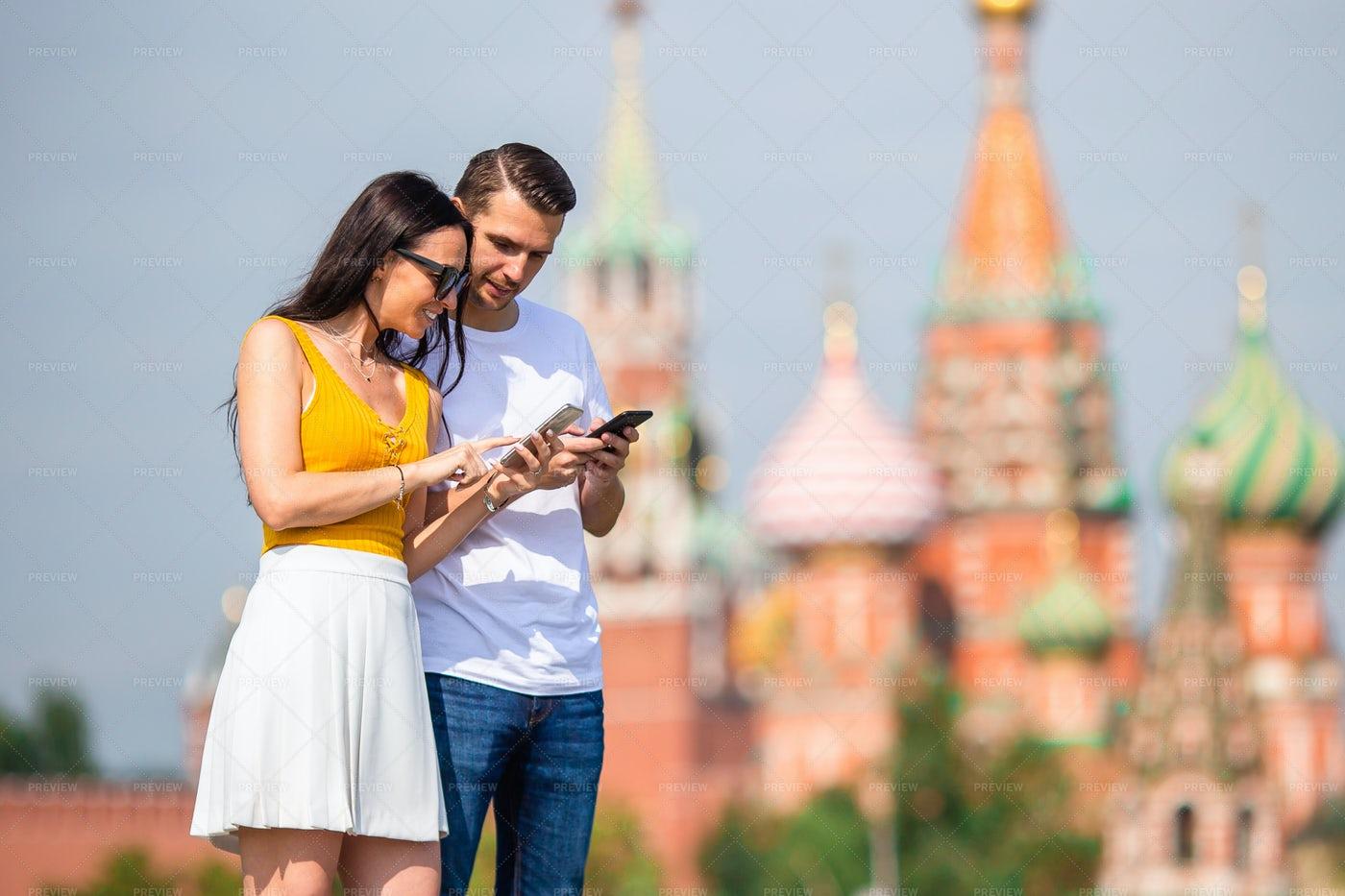 Couple Exploring Moscow: Stock Photos
