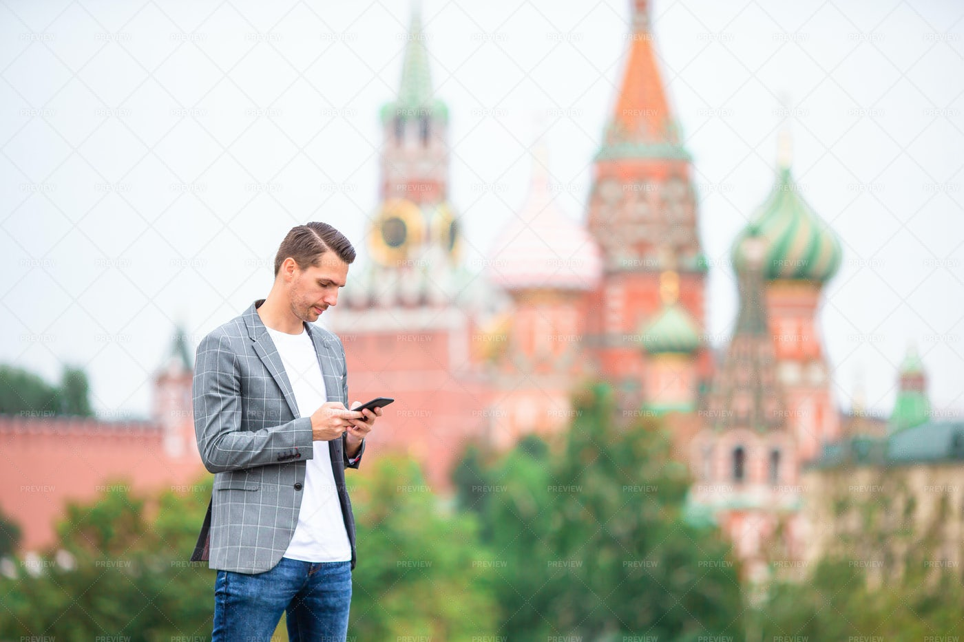 Beside St. Basil's Cathedral: Stock Photos